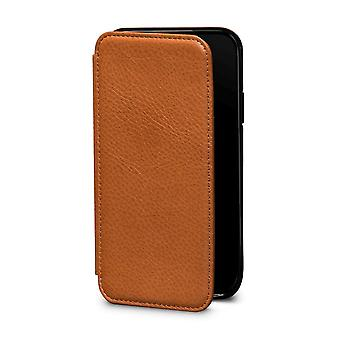 Case For IPhone Xs / Iphone X In True Leather Brown Card Holder