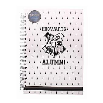 Harry Potter Notebook Hogwarts Alumni Logo new Official White A4 Wiro