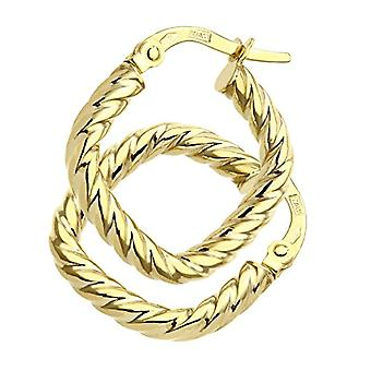 Citerna Women's Hoop Earrings - Yellow Gold - 9 Carats