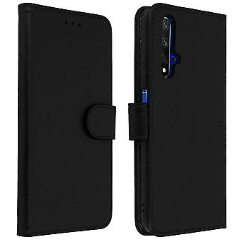 Flip wallet case, magnetic cover with stand for Honor 20 / Huawei Nova 5T Black
