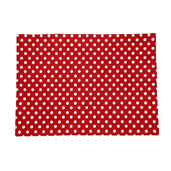 Dexam Polka Tea Towel, Red