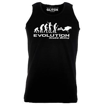 Reality glitch evolution of scuba diving mens vest