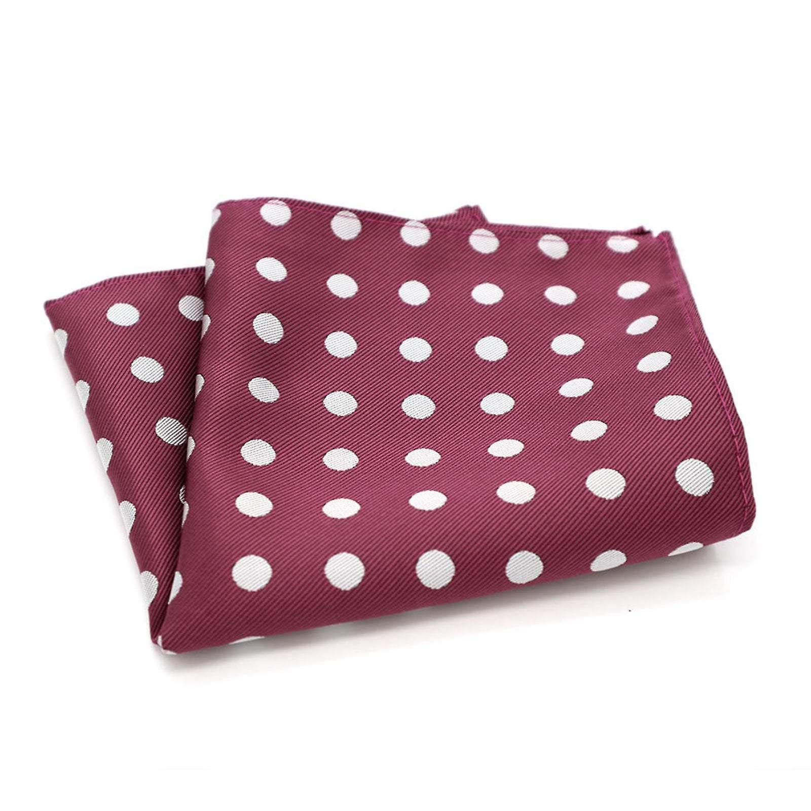 Dark red & white polka dot spot pattern pocket square