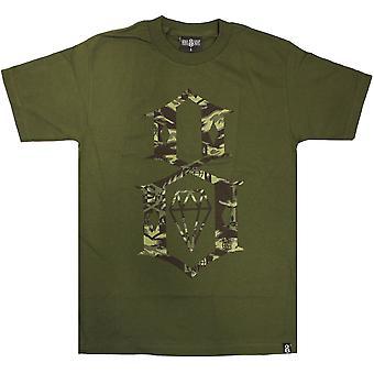 Rebel8 Fall Camo Logo T-shirt Olive
