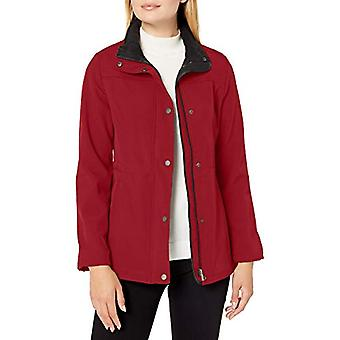 Big Chill Women's Plus Size Anorak Jacket with Tall Collar,, Ruby, Size 1.0