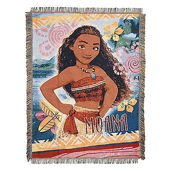 Tapestry Throw - Disney�s Moana Island Girl #051 Woven New 48x60