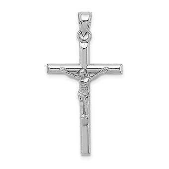 925 εξαιρετικό ασημένιο κοίλο ρόδιο καλυμμένα γυαλισμένα δώρα κοσμήματος περιδεραίων κρεμαστών κοσμημάτων Σταυρού για τις γυναίκες