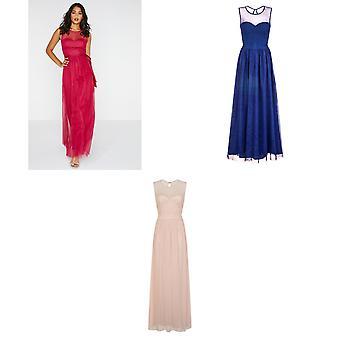 Little Mistress Womens/Ladies Delphi Sweetheart Mesh Maxi Dress