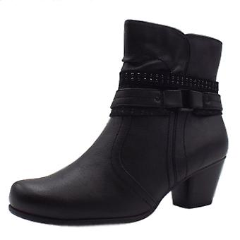 Soft Line 25361 Saxony Stylish Wide Fit Smart Boot In Black