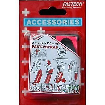 FASTECH® 688-454 Haak-en-lus tape met riem Haak en loop pad (L x W) 300 mm x 25 mm Violet 2 pc(s)