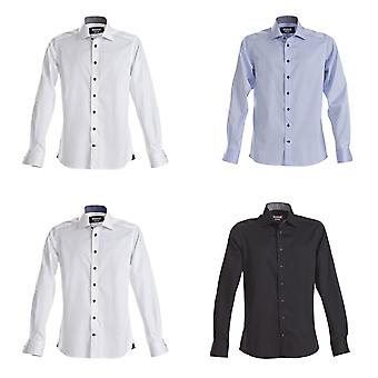 J Harvest & Frost Mens Red Bow Collection Slim Fit Formal Shirt