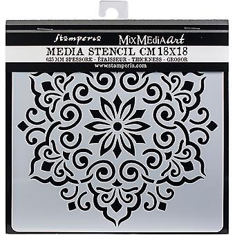 """Stamperia Stencil 7,08 """"X7.08""""-Spitze"""