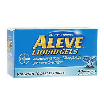 Aleve all day strong pain reliever, fever reducer, liquid gels, 40 ea