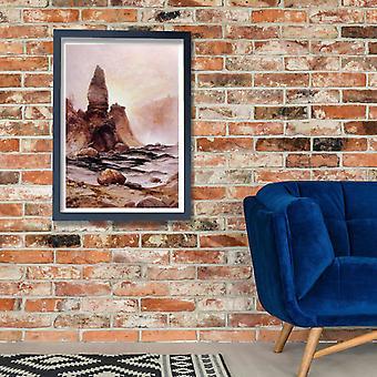 Thomas Moran - torre cai no Yellowstone Poster impressão giclée