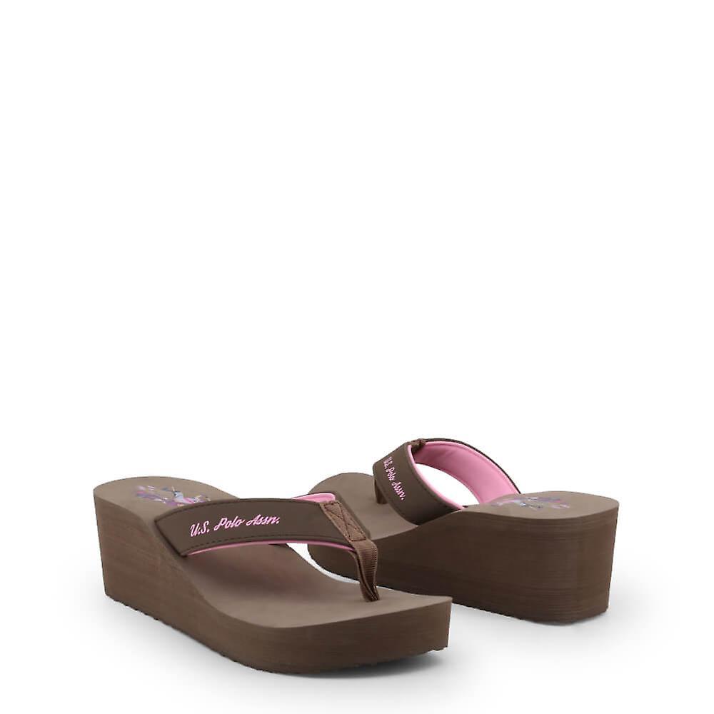 U.S. Polo Assn. Original Women Spring/Summer Flip Flops - Brown Color 33529