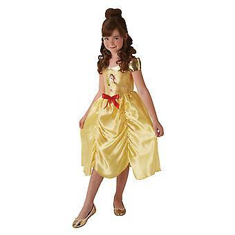 Girls Fairytale Disney Belle Fancy Dress Costume