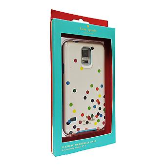 Kate Spade New York Flexible Hardshell Case for Samsung Galaxy S5 (Multi Color Dots)
