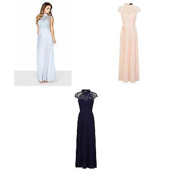 Little Mistress Womens/Ladies Lace Pleated Maxi Dress