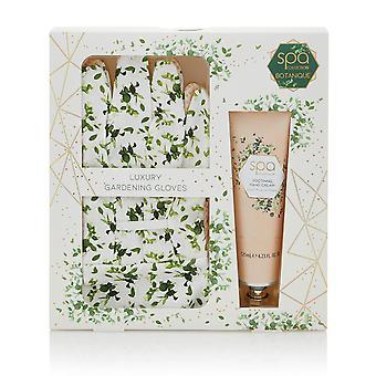 Style & Grace Spa Botanique Garden Glove Set - Garden Gloves, 125ml Hand Cream - V2020