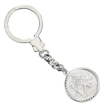 נשים מחזיק מפתחות פטרון סנט כריסטופרוס 925 כסף סטרלינג