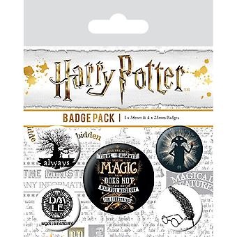 Harry Potter Symbols Pin Button Badges Set