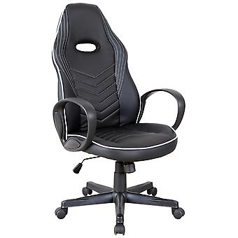 Vinsetto Executive w/ Wheels PU Leather Rocking Office/ Gaming Chair Adjustable Padded Seat White