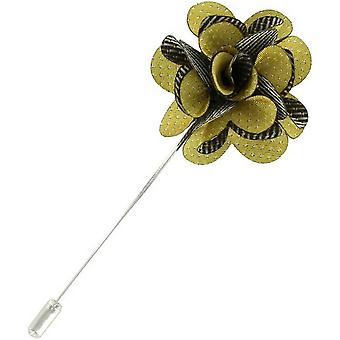 Michelsons Lontoo PIN Dot kukka rintaneulan - keltainen