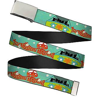 Scooby Doo The Mystery Machine Chrome Buckle Web Belt