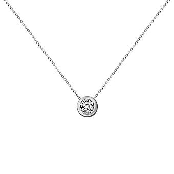 Necklace Diamond Solitaire 0.20 carat and 18K Gold