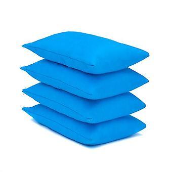 4 paquets de sacs de haricots en tissu de coton turquoise pour le sport, PE, école, jeux de capture, sensoriel, jonglerie
