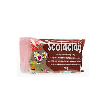 Scola Scolaclay Airdry Air Hardening Modelling Clay – Stone - 1kg