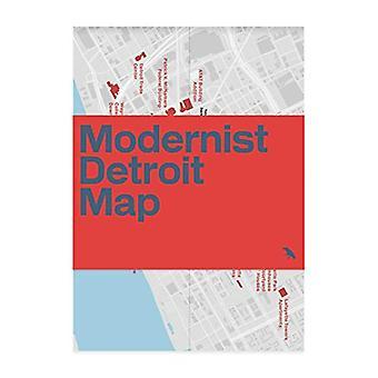 Modernist Detroit Map by Michael Abrahamson - 9781912018567 Book