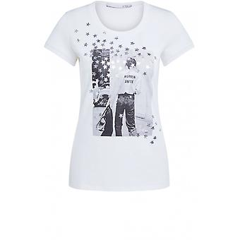 Oui Silver Star Design T-Shirt