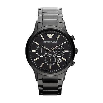 Emporio Armani AR2453 Men's Chronograph Black Watch - Black