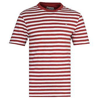 Farah Montego Vintage Rust Red Stripe T-Shirt