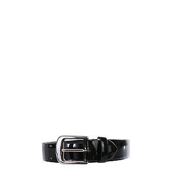 Maison Margiela S61tp0035pr697t8013 Women's Black Leather Belt