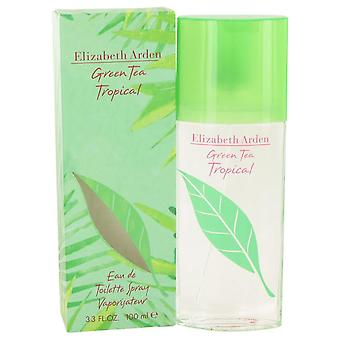 Green Tea Tropical Eau De Toilette Spray By Elizabeth Arden 3.3 oz Eau De Toilette Spray