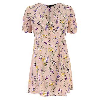 Dames's Vero Moda Noomi Short Sleeve Dress in Pink