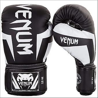 Venum elite boxing gloves black/white