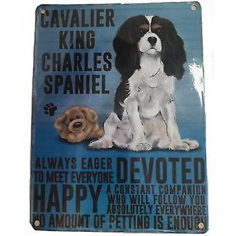 Cavalier King Charles Hanging Metal Sign