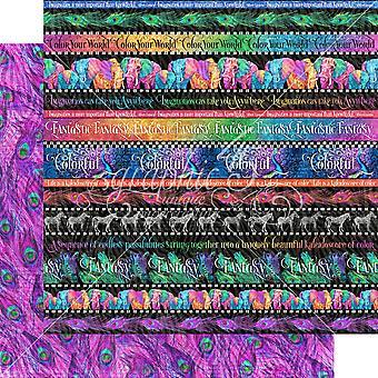 Grafik 45 Regenbogen der Farbe 12 x 12 Zoll Papier Pack