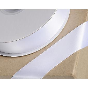 25m White 23mm Wide Satin Ribbon for Crafts