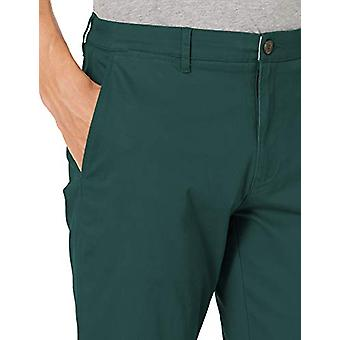 Brand -Goodthreads Men's Slim-Fit Washed Stretch Chino Pant, Pine Gree...