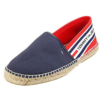 Tommy Jeans Branded Espadrille Mens Slip On Shoes in Red White Blue