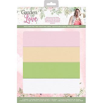 Crafter's Companion Garden of Love A4 Luxury Linen Card