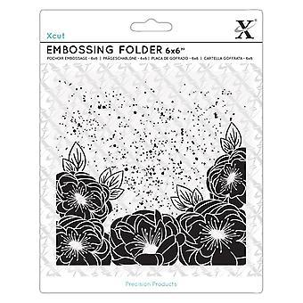Xcut 6x6 Inch Embossing Folder Full Bloom Roses
