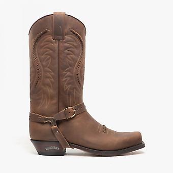 Sendra 3434 Mens Leather Mid Calf Cowboy Boots Mad Dog Tan