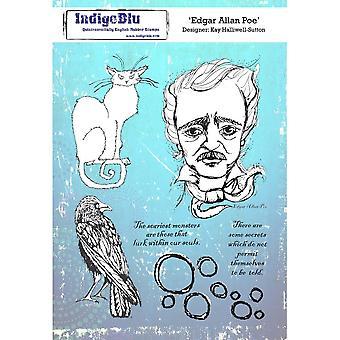 IndigoBlu Edgar Allan Poe A5 Rubber Stempel