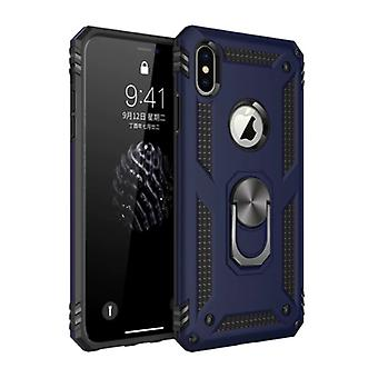 R-JUST iPhone 8 Plus Case - Shockproof Case Cover Cas TPU Blue + Kickstand