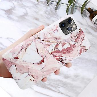 Moskado iPhone 11 Pro Max Caso Mármol Textura - Caja brillante a prueba de golpes Cubierta de granito Cas TPU